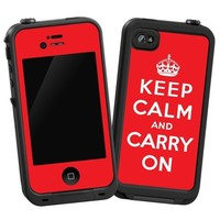 "Keep Calm and Carry On ""Protective Decal Skin"" for LifeProof iPhone 4/4s Case"