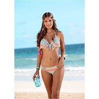 Colorful Fringe Bathing Suit Hot Bikini