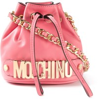Moschino Logo Bucket Shoulder Bag - Stefania Mode - Farfetch.com