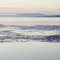 Thin Ice - Arctic Iceland, Landscape Photography, Nature, Soft Pale Pastel Pink Blue, Spring Thaw, Frozen Winter, Midnight Sun