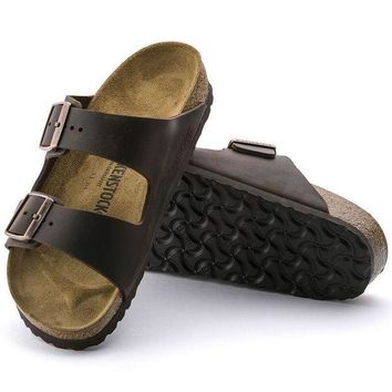 LMFNW6 Sale Birkenstock Arizona Oiled Leather Habana 0052531/0052533 Sandals