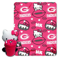Green Bay Packers NFL Hello Kitty with Throw Combo
