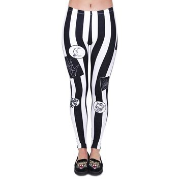 Vertical Striped Leggings