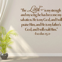 Vinyl Bible Verse. The Lord is my strength - CODE 099