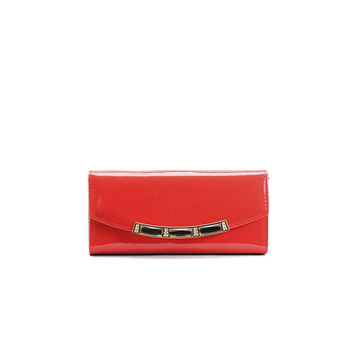 Red Shiny Stone Wallet