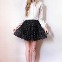 tea and tulips boutique - one of a kind vintage. — black star skirt