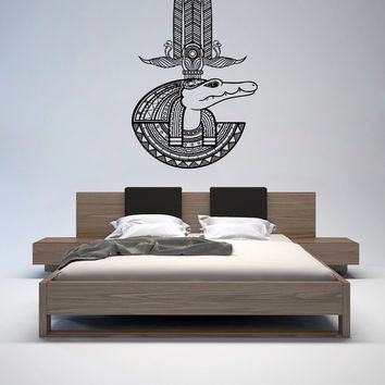 ik1011 Wall Decal Sticker egyptian god water sobek bedroom