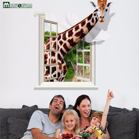 3D Wall Stickers Giraffe Individuality Creative Wall Stickers For Kids Room The Sitting Room Bedroom Of Children Room Home Decor
