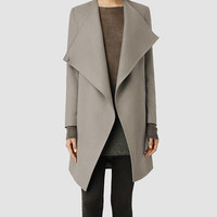 Womens Ora Coat (Light Khaki) | ALLSAINTS.com