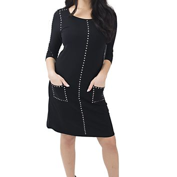 Women's Tribal Tunic Dress with Stud Details