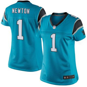Women's Carolina Panthers Cam Newton Nike Blue Limited Jersey