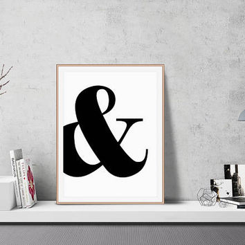Ampersand Wall Art, Ampersand Poster, Instant Download, Ampersand Design, Poster Download, Wall Decor, Minimal, Nordic, Scandinavian, Large
