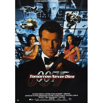 Tomorrow Never Dies Movie poster Metal Sign Wall Art 8in x 12in
