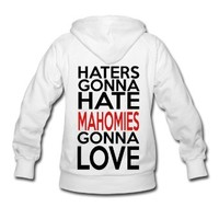 Spreadshirt Women's Haters Hate Mahomies Love Hoodie, White, S