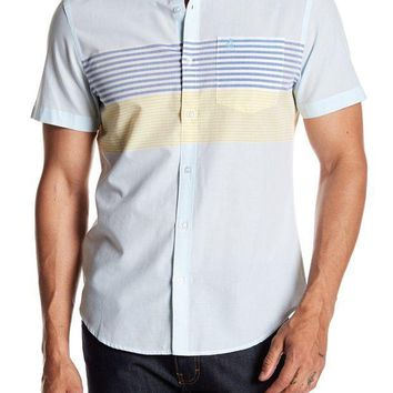 Original Penguin | Horizontal Engineered Stripe Heritage Slim Fit Shirt | Nordstrom Rack