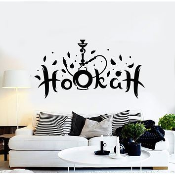 Vinyl Wall Decal Hookah Shisha Smoking Tobacco Arabic Cafe Lounge Stickers Mural (g753)