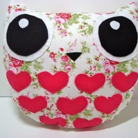 Owl Pillow Delilah the Sweethoot/ Ready to Ship by Sweethoots