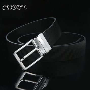 Men's Belts Genuine Leather Luxury Pin Buckle Jean Belt
