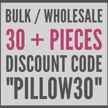 30% Discount Code for Bulk / Wholesale Pillow Covers, Velvet Pillow, Kilim Pillows, Linen Pillow, Throw Pillows, Blue Velvet Pillow Covers