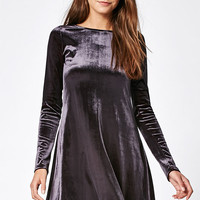 Lisakai Velvet Fit & Flare Dress at PacSun.com