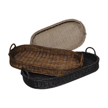 Guild Master Oval Rattan Trays 280502S