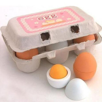 Educational Wooden Eggs Yolk