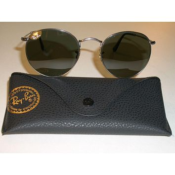 Tagre™ Cheap RAY BAN RB3447 50[]21mm ROUND GUNMETAL WIRE G15 UV AVIATOR SUNGLASSES MINT outlet