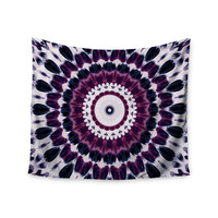 "Iris Lehnhardt ""Batik Pattern"" Purple Geometric Wall Tapestry"