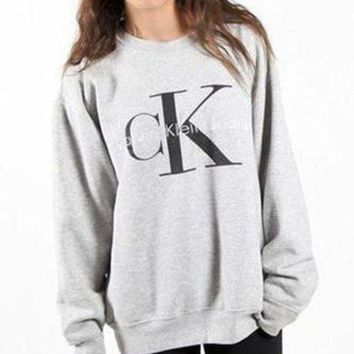 DCCKNQ2 Calvin klein Jeans Long Sleeve Pullover Sweatshirt Top Sweater-4
