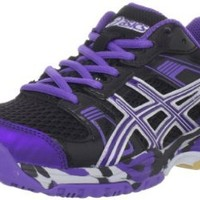 ASICS Women's 1140 V Volleyball Shoe,Black/Grape/Silver,9 M US