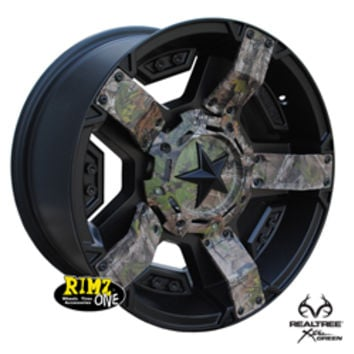 Get Realtree® Xtra® Green Camo finish wheels from Rimz One.