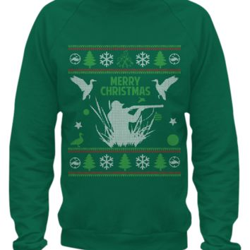 Duck Hunting - Christmas Sweater Printed duckgift