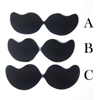 Women Sexy Push Up Bra Front Closure Self-Adhesive Invisible Silicone Seamless Strapless Bra For Wedding Party
