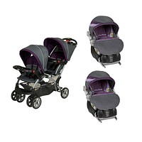 Baby Trend Double Sit N Stand Twin Stroller Travel System with 2 Infant Car Seats, Elixer