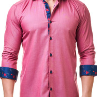 Luxor Coral | Dress Shirt by MACEOO