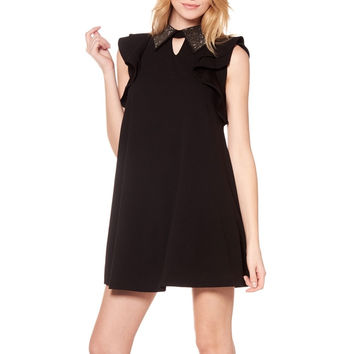 Jewellery Collar Key Hole Neckline Flare Dress D19397