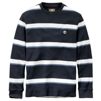 Timberland - Men's Wharf River Striped Waffle-Knit Crew Neck Shirt