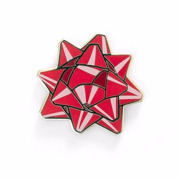 Red Bow Pin