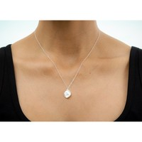 one in a million, friends, keshi pearl necklace, sterling silver - Dogeared
