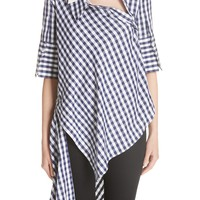 MONSE Asymmetrical Gingham Blouse | Nordstrom