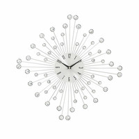 "Benzara Amazing Metal Acrylic Wall Clock Decor 19""W 19""H"