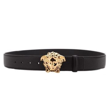 VERSACE COUTURE GÜRTEL 110CM donatella gianni medusa belt 110 cm leder leather