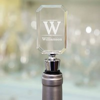 Family Engraved Wine Bottle Stopper