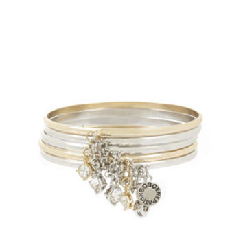 Chained To My Heart Mixed Bangles in Grey - BCBGeneration
