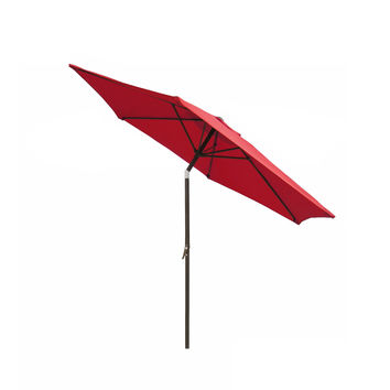 Clevr 9ft Aluminum Patio Umbrella with Crank Tilt
