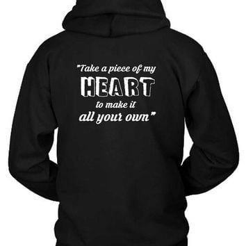 DCCKL83 Shawn Mendes Quote Take A Piece Of My Heart Own Hoodie Two Sided