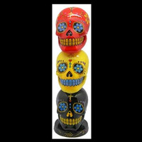 Triple Skull Day of the Dead Incense Tower