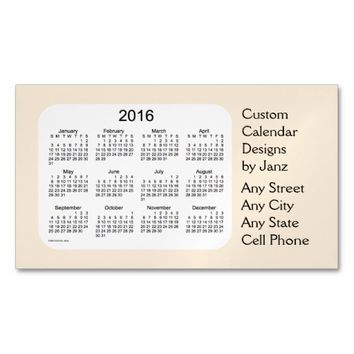 2016 Wheat Business Calendar by Janz Magnet Magnetic Business Cards (Pack Of 25)