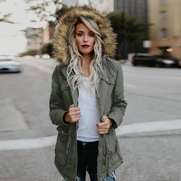 Hooded Cotton Winter Jacket