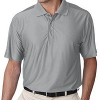 Men's Cool & Dry Elite Performance Polo (Grey) (Large)